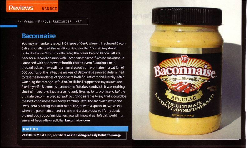 Baconnaise review - geek monthly2
