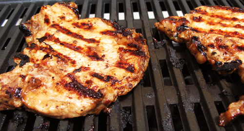 ... Salt Blog: Baconnaise Recipe: Grilled Pork Chops with Bacon Sauce